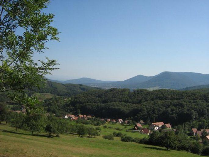 Vue depuis les hauteurs de Breitenbach dans le Val de Villé