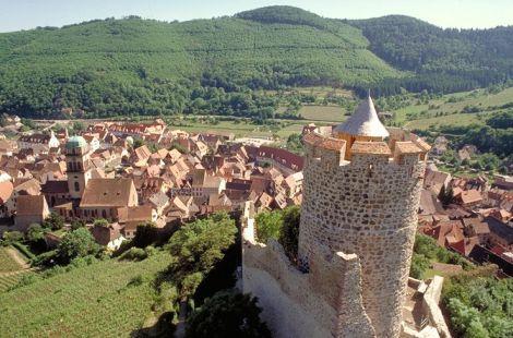 Vue de la vallée depuis le château de Kaysersberg