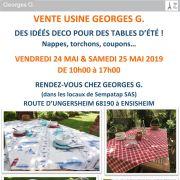 Vente usine Georges G. : des idées déco pour des tables d\'été !