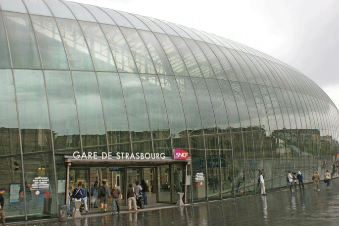 La grande verrière de la gare de Strasbourg est un élément architectural très étonnant !