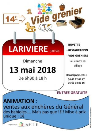 Vide grenier à Larivière 2018