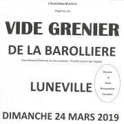 Vide grenier de la Barollière à Lunéville 2019
