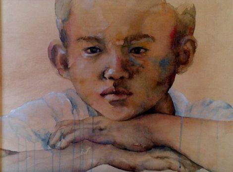Une aquarelle de OH Kee Hyung
