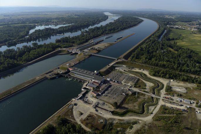 La centrale hydroélectrique EDF, site de Gerstheim