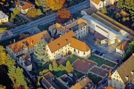 Vue aérienne de la Nef des Jouets - Soultz