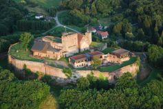 Vue aérienne du Château de Lichtenberg