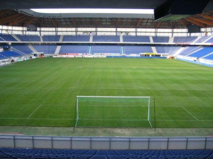 Vue intérieure du stade Auguste Bonal à Montbéliard
