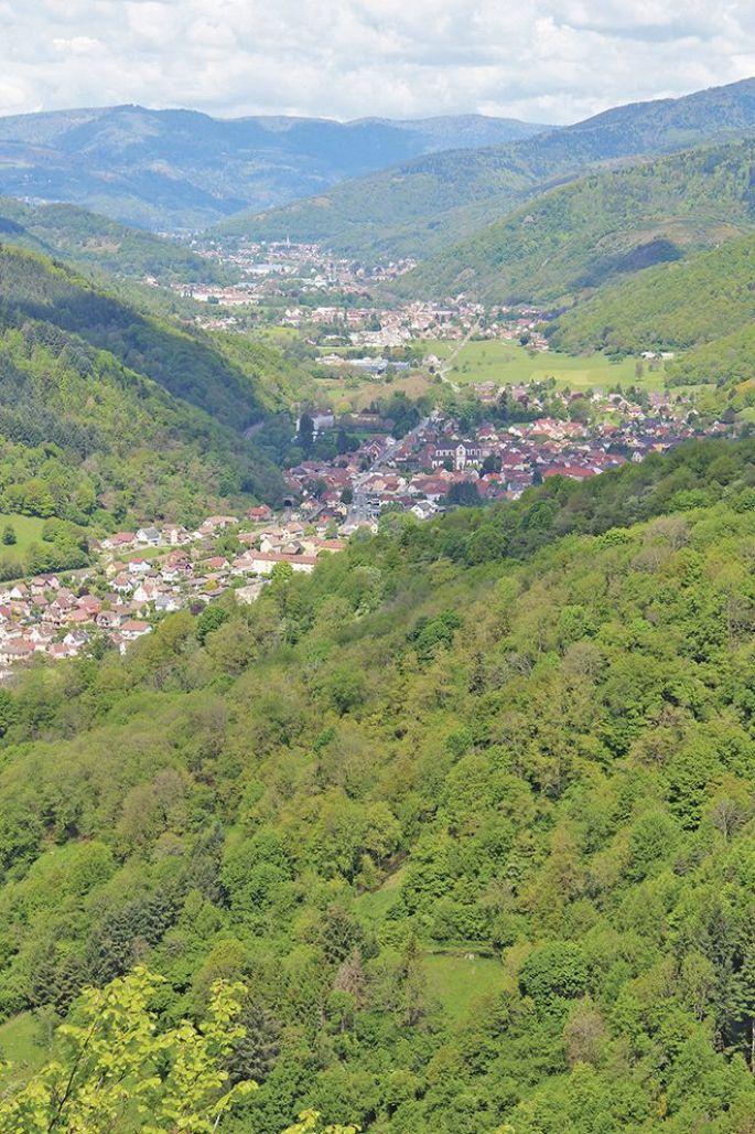 Panorama sur la vallée de la Thur
