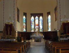 Vue sur le chœur de l\'église Saint-Boniface de Burnhaupt-le-Haut